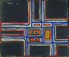 Composition on Black Background, 1958